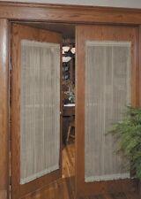 """Heritage lace Sheer Divine Door Panel, 42""""x 63""""-White."""