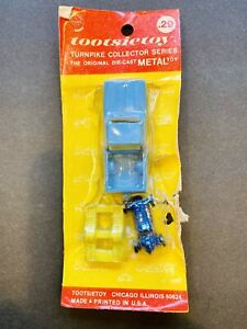Vintage Tootsietoy Turnpike Collector Series Blue Pickup Truck W Go Kart In Box