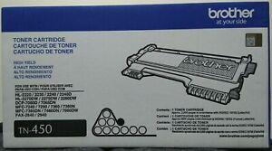 CE Brother TN450 Black High Yield Toner Cartridge Genuine OEM