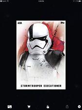 STAR WARS CARD TRADER - TLJ - PREMIERE PORTRAITS - STORMTROOPER EXECUTIONER