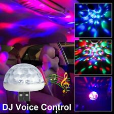 Car LED Bulb USB Atmosphere Light DJ RGB Music Disco Sound Lamp Accessories