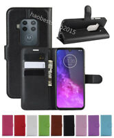 NEW Leather slot wallet stand flip Cover Skin Case For Motorola Moto One ZOOM