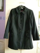 LADIES BLACK SINGLE BREASTED COAT SIZE 18 FROM GEORGE