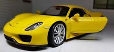 1:24 Escala Amarillo Porsche 918 Spyder 2014 Detallado Welly