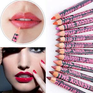 12 Style Waterproof Moisturising Lip Liner Pencil Pen Make-up Cosmetic Lipstick