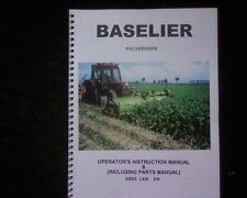 Baselier Pulveriser 2LKA 2LK 4LK 4LKB mulcher Owners Operator manual Parts book