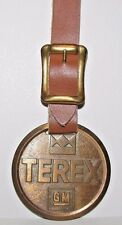 Terex Gm General Motors Corp Logo Brass Pocket Watch Fob Earthmoving Division Oh