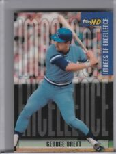 2001 TOPPS HD #IE9 GEORGE BRETT IMAGES OF EXCELLENCE KANSAS CITY ROYALS HOF 0297