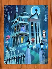 TIN SIGN Disney's Haunted Mansion Cartoon Attraction Ride Poster