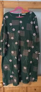 Gorgeous Green White Stuff Dress With Pink Floral Embroidered Detail - Size 16