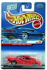 2000 Hot Wheels #67 First Edition Chevy Pro Stock Truck 0910 G1 crd