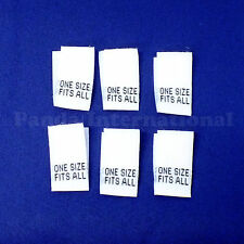 "Free Shipping from US White 100 WOVEN SEWING ALPHABETIC SIZE LABELS /""S/"""
