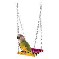Bird Parrot Parakeet Budgie Cockatiel Cage Hammock Swing Toys Hanging Pet·New
