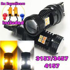 Front Signal 3157 3057 4157 Switchback white Amber LED Light Bulb B1 For Dodge A