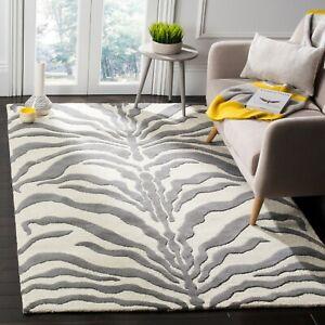 Handmade Cambridge Salina Modern Moroccan Hand Tufted Wool Area Rug Carpet 5x8