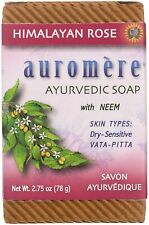 AUROMERE HIMALAYAN ROSE WITH NEEM SOAP SKIN TYPES DRY - SENSITIVE 2.75 OZ SEALED