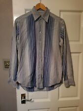 Mens Mulberry blue stripe shirt 15 collar (B5)