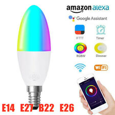 Smart LED Bulb WIFI RGB Dimmable Light App Control for Google Home/Alexa/IFTTT #