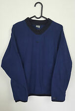 WOMENS NAVY BLUE VTG NIKE ATHLETIC SPORTS THERMA-FIT FLEECE JUMPER TOP UK 16