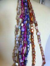 Pretty Abalone Shell cadenas de granos 6 Colores Pulsera Joyería. Neclace.