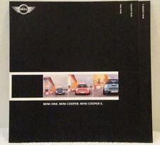 BMW Mini One, Mini Cooper & Cooper S UK Brochure Dated 2002 Good Condition