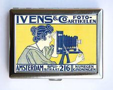 Art Nouveau Photographer Poster Cigarette Case Wallet Business Card Holder