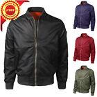 Men Winter Casual Windproof and waterproof Warm Slim Bomber Jacket Zipper Coat