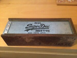 SUPERDRY Very Rare designer Wooden Box spectacle glasses sunglasses case -
