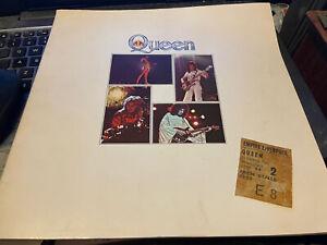 Queen 1977 Original Tour Programme Ticket-stub