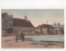 Old Stocks Aldbury Hertfordshire Vintage Postcard C Dickens 504b