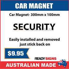 SECURITY - Car Magnet 300mm x 100mm - Australian Made