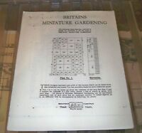 Britains Miniature Gardening plans x 6 different in a leaflet