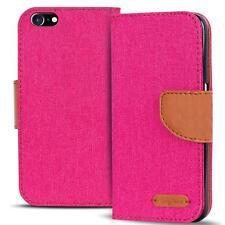Apple iPhone 5 5s SE Phone PU Leather Magnetic Flip Case Wallet Denim Cover Slim
