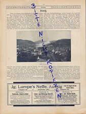 AUSSIG, Werbung 1900, Post-Karten-Ansichten Stadtansicht Ferdinandshöhe Kulmerst