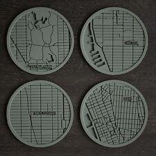 Design Ideas New York Urban Landmark Icon Silicon Coasters Hostess Host Gift Set