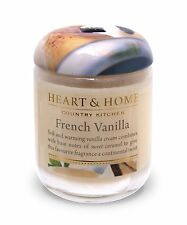 Heart & Home Small Jar Scented Candle Home Fragrance - French Vanilla