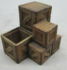 1/35 Scale Wooden Crates assorted size Stack - vehicle stowage, scenic accessory