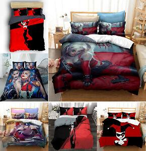 Harley Quinn 3PCS Ultra Soft Comforter Set Pillowcases Microfiber DDuvet Gifts