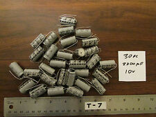 Bag of 30 Electrolytic Capacitorss 2200uF 10V Axial Through-Hole Nos