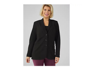 Kim & Co Ponte Crepe Blazer Black Size XS BNWT