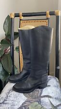 CHANEL Authentic Knee High Black Leather  Boots Sz40 RRP $2k+