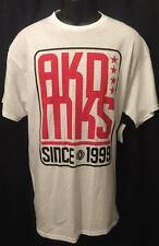 AKADEMIKS MEN'S GRAPHIC TEE SHIRT NEW W TAGS SIZE L WHITE RED SINCE 1999