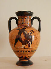 Attican Nero-pensò ANFORA VASO GRECO dipinto a mano replica