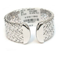 NWT Roberto Coin The Fifth Season Polished Silver Woven Cuff Bracelet $1850