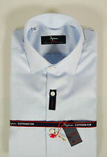 Camicia Ingram CottonStir No Stiro Celeste slim fit collo mezzo francese TG 38