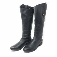 Sam Edelman Black Leather Penny Tall Riding Boots Knee High Women's Sz 9.5