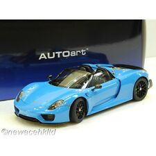 PORSCHE 918 SPYDER RIVIERA BLUE AUTOart MODEL 1/18 #77924