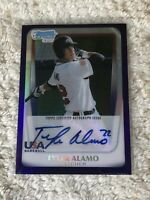 Tyler Alamo Signed 2011 Bowman Draft Chrome Rc Auto USA Purple Refractor #d/10
