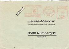 Germany Olympische Spiele Olympic Games 1972 metermark Hanse-Merkur Ins. Reply