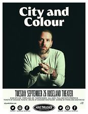 CITY AND COLOUR 2017 PORTLAND CONCERT TOUR POSTER - Folk, Acoustic, Alexisonfire